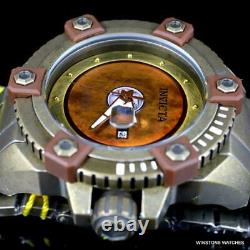 Invicta Grand Octane Sentry Automatic Distressed Steel Bronze 63mm Watch New