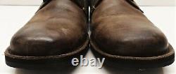 John Varvatos Star USA Star B Side Zip Distressed Leather Boot -$348 -Size 8.5 M
