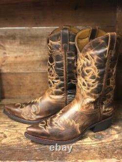 Laredo Men's North Rim Distressed Brown Snip Toe Western Boots 68405