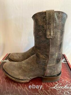 Lucchese Mens M2650 Brent Western Boots NEW Size 10 Distressed Casual Chocolate