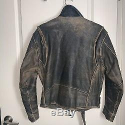 MAD MAX VINTAGE POST APOCALYPSE DISTRESSED Brown LEATHER MOTORCYCLE JACKET