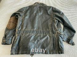 MATCHLESS Mens Jacket Large LTD Edition Waxed Cotton DISTRESSED Replica 1933
