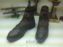 Made In USA Red Wing Vintage Brown Leather Lace Up Packer Work Chore Boots 13 D