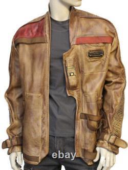 Magnoli Clothiers Star Wars Finn Poe Tan Leather Jacket