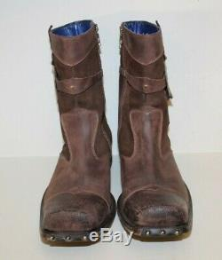 Mark Nason AMPLIFY Rock Boots Sz 11 US Distressed Brown Studded Made In Italy