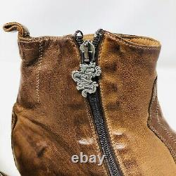 Mark Nason Distressed Rock Lives Studded Leather Boots Italy Sz 11