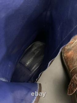 Mark Nason SKIDWAY Brown Dragon Rock Boots Distressed Men Size 12 67440 $2000