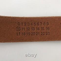 Martin Margiela 10 Mens New Leather Hook Belt L brown