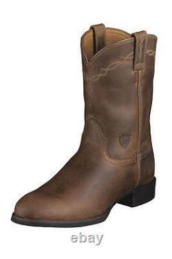 Mens Ariat Heritage Roper Cowboy Boots! 10002284(35525) Distressed Brown! Nib