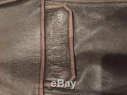 Mens Brown Distressed Leather Harley Davidson Jacket American Legend XL
