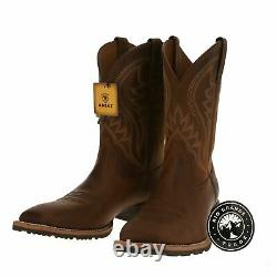 NEW ARIAT 10023175 Men's Western Boots in Distressed Brown with Square Toe 12