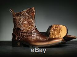 NEW! Mark Nason AMBEROOM Dragon Rock Boots US 9 Distressed Brown
