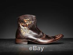 NEW! Mark Nason TRAXX Dragon Rock Boots US8 Distressed Brown