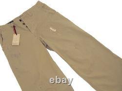 NEW Polo Ralph Lauren Vintage Buckle Back Pants! 32 x 30 Distressed Tan Wide Leg