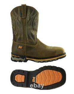 NEW Timberland Pro AG Boss Square Alloy Toe Pull-On Boot Shoes, 1001A, Sz 10.5 M