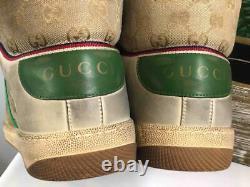 NIBGUCCI Men's GG Canvas Screener High Top Distressed Sneakers UK 10/ US 10.5