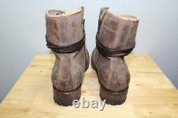 NWOB FREEBIRD by Steven FM-Oaks Distressed Brown Leather Boots Men's Size 10