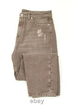 NWT$1145 Brunello Cucinelli Men's Distressed Jeans WithLogo Engraved Hardware A211