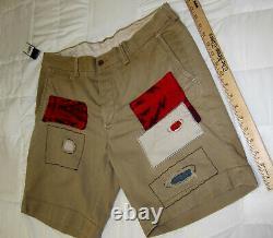 NWT Polo Ralph Lauren Southwestern Shorts RRL Military Aztec Patchwork M/34