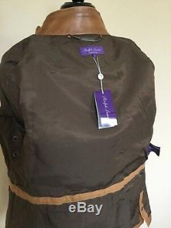 NWT Ralph Lauren Purple Label Leather Thornhill Jacket L Slim $4995 Italy