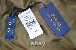New $895 Polo Ralph Lauren Distressed Brown Suede Biker Moto Jacket Vintage sz L