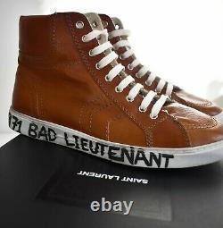 New SAINT LAURENT Paris Brown 1971 BAD LIEUTENANT MID-Top Sneaker EUR-42 US-9
