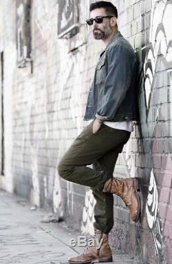 Nib Mens Bed Stu Combat Boots Distressed Hendrix/tan Msrp $325