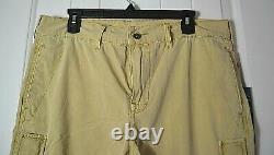 Nwt True Religion Men's Tan Khaki Style Distressed Short Size 32, 34