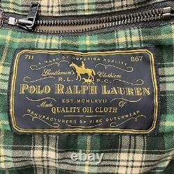 POLO RALPH LAUREN Size S Brown Coated Cotton Patch Pocket Jacket