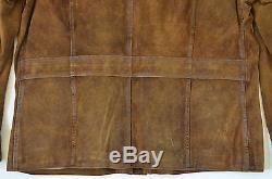 Polo Ralph Lauren Men's Bleecker Distressed Waxed Leather Heavy Jacket Coat XL