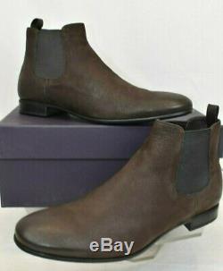 Prada 2t2723 Brown Distressed Leather Elastic Slip On Ankle Boots 8.5 Us 9.5