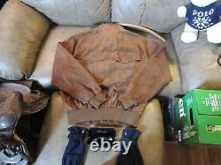 RALPH LAUREN POLO Distressed SUEDE Jacket LARGE -MSRP-795.00