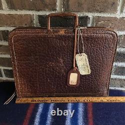 RARE VINTAGE 1940s DISTRESSED PIGSKIN LEATHER MACBOOK PRO BRIEFCASE BAG R$898