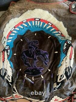RARE VINTAGE VOLCANO Leather, Lined Motorcycle Jacket Size XL