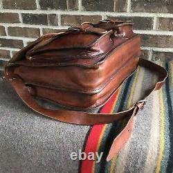 REEDERANG VINTAGE 1970s HANDMADE DISTRESSED LEATHER MACBOOK BRIEFCASE BAG R$998