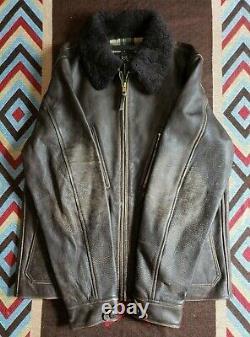 RRL Double RL Ralph Lauren Distressed Leather Jacket