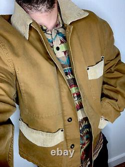 RRL Ralph Lauren Large Gents Jacket VTG Chore Coat Polo Rugby Trucker Hunting XL