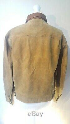 RRL Ralph Lauren Roughout Suede Leather Jacket Double RL Size Medium