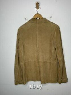 Ralph Lauren Medium Blazer Jacket RRL VTG Hunting Leather Suede Western Concha