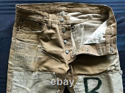 Ralph Lauren RRL 32x31 Brown Clay Slim Fit Patch Artisan Limited Edition Jeans