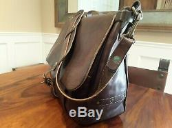 Ralph Lauren RRL Vintage Distressed Made In Italy Leather Mailbag Bag NWT