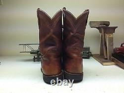 Red Wing Distressed Brown Leather Work Chore Trucker Engineer Boots Size 14 D