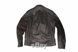 Replay Distressed Leather Jacket Size XL 100% Authentic