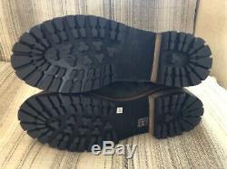 Rick Owens Men's Dark Shadow Distressed Suede Army Hiking Boots. Orig $1800