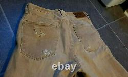 Rrl Double Rl Ralph Lauren Men's Distressed Selvedge Jeans Sz 32x32 Made In USA