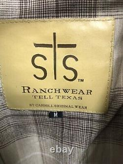 STS Ranchwear Men's Cartwright Jacket Medium Distressed Brown Leather New A01-25