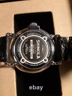 Shinola Argonite 1069 Mens Watch 41mm Runwell Black distressed Leather Strap