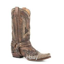 Stetson Men's Outlaw Eagle Distressed Brown Boot 12-020-6104-1606