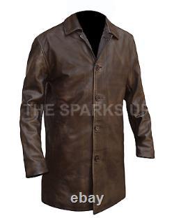Supernatural Dean Winchester Distressed Leather Vintage jacket Coat BEST QUALITY