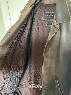 Supernatural Dean Winchester Wilsons Leather Distressed Car Coat Jacket Size M